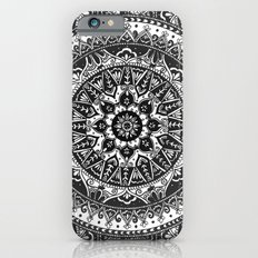 Black and White Mandala Pattern iPhone 6 Slim Case