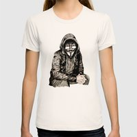 Anonymous Gangster Womens Fitted Tee Natural SMALL