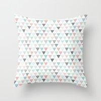 Geometric Pastel Triangl… Throw Pillow