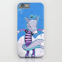 iPhone & iPod Case featuring Le renard bleu. by Tom Abel