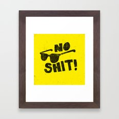 No Shit Shades! Framed Art Print