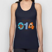 Welcome 014 Unisex Tank Top