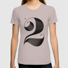 No. 2 Womens Fitted Tee Cinder SMALL