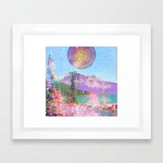 mandala sunrise Framed Art Print