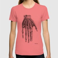 Hand Womens Fitted Tee Pomegranate SMALL