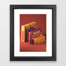 Typographic Insults #1 Framed Art Print