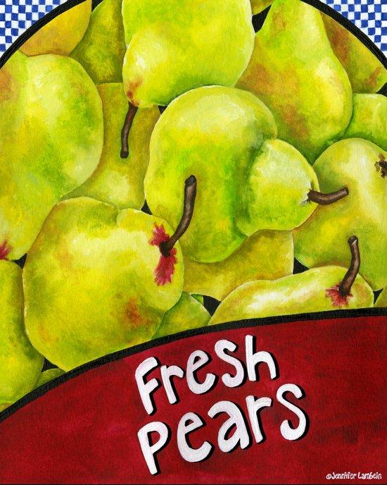 Fresh Pears Art Print