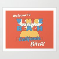 VENICE BEACH BITCH Art Print