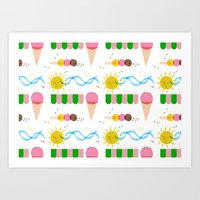Ice Cream Summer Art Print