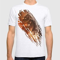 Fire with Horses Mens Fitted Tee Ash Grey SMALL