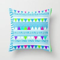 PLAYGROUND two ( p l a y f u l)  Throw Pillow