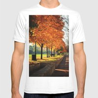 Urban Fall Mens Fitted Tee White SMALL