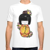 Horror Vacui - Kokeshi01 Mens Fitted Tee White SMALL