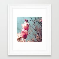 Japanese Magnolias Framed Art Print