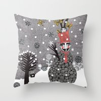 Snow Magician Throw Pillow