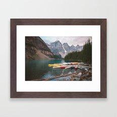 Lake Moraine Framed Art Print