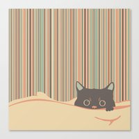 Kitty In The Blanket Canvas Print
