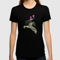 First Kiss Womens Fitted Tee Black SMALL