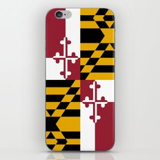 Flag Of Maryland - Authe… iPhone & iPod Skin