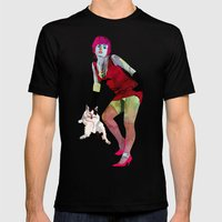 El gato Mens Fitted Tee Black SMALL