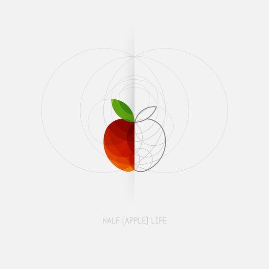 HALF (apple) LIFE Art Print