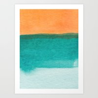 Water And Color 11 Art Print