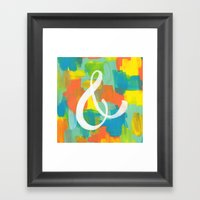 AMPERSAND Framed Art Print