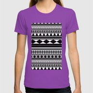 Tribal #5 Womens Fitted Tee Ultraviolet SMALL