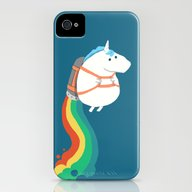 Fat Unicorn On Rainbow J… iPhone (4, 4s) Slim Case