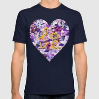 LOVE, LOVE, LOVE Mens Fitted Tee Navy SMALL