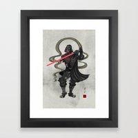 Darth Samurai Framed Art Print