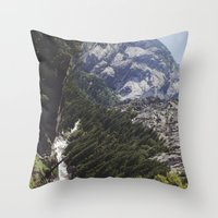 yosemite nature Throw Pillow