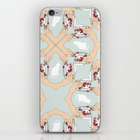 Tea and Cat Pattern iPhone & iPod Skin