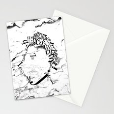 Typeface distressed Stationery Cards