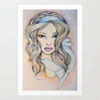 Blue Ribbon  Art Print