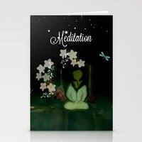 Meditaition by Sherriofpalmsprings Stationery Cards