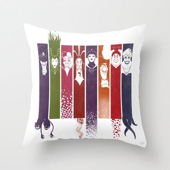 Disney Villains Throw Pillow by Meder Taab | Society6