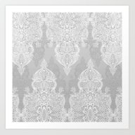 Lace & Shadows 2 - Monoc… Art Print