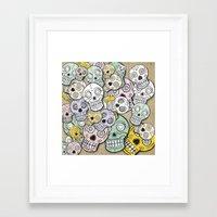 calaveras Framed Art Print