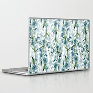 Blue Branches Laptop & iPad Skin