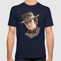 Clint Eastwood Tribute Mens Fitted Tee Navy SMALL