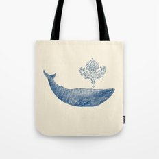 The Damask Whale  Tote Bag