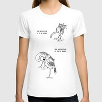 Revolutionary Flamingos Womens Fitted Tee White SMALL