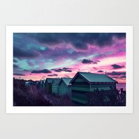 Infrared Sunset Art Print