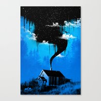 Black Smoke Canvas Print
