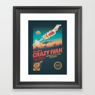 Framed Art Print featuring Crazy Ivan by Victor Vercesi
