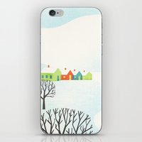 Snowy Little Town iPhone & iPod Skin
