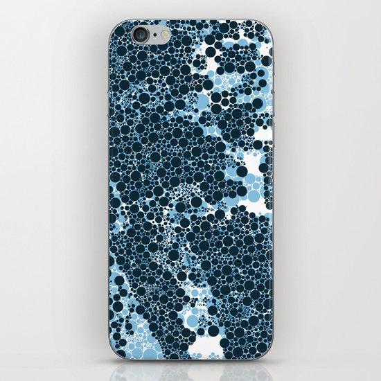 Blue Circles. iPhone & iPod Skin