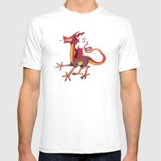 wow dragon Mens Fitted Tee White SMALL