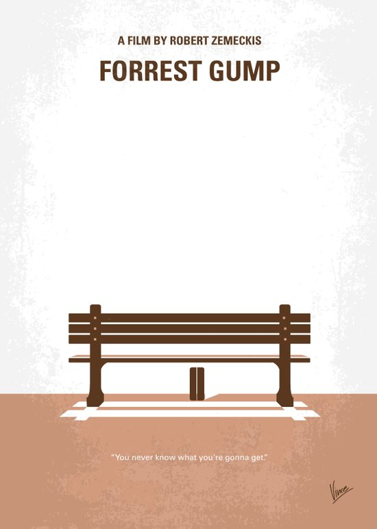 No193 My Forrest Gump minimal movie poster Canvas Print